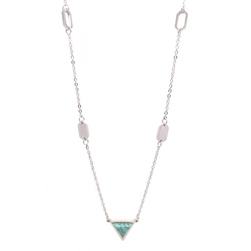 Collar simple triangulos turquesa