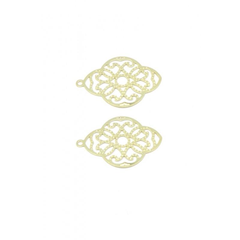 Colgante insumo baño de oro mandala