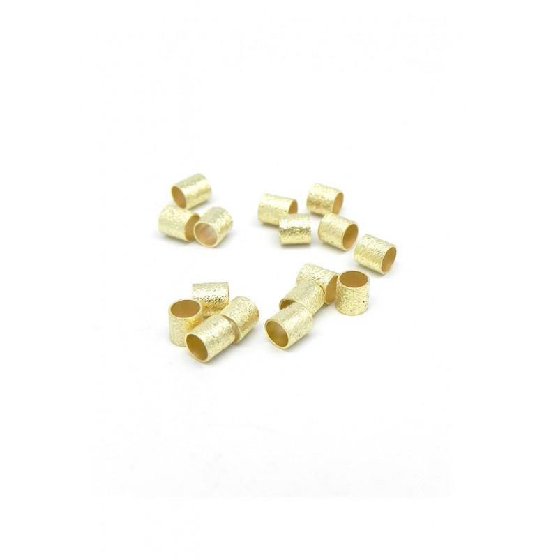 Pack de 16 separadores cilindricos baño de oro