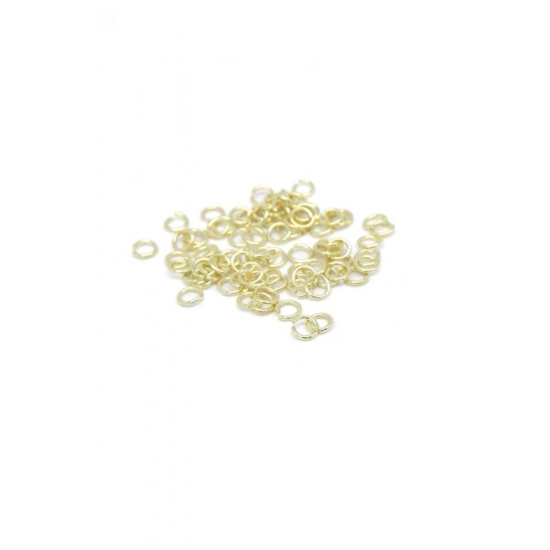 Pack argollas baño de oro 3mm