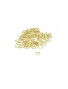 Pack argollas baño de oro 4 mm