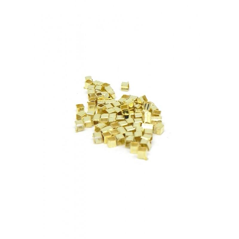 Pack 2 gramos separadores baño de oro cuadrados