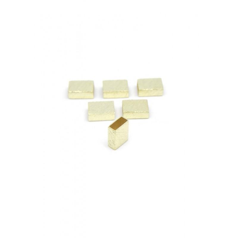 Pack 6 separadores rectangulares baño de oro