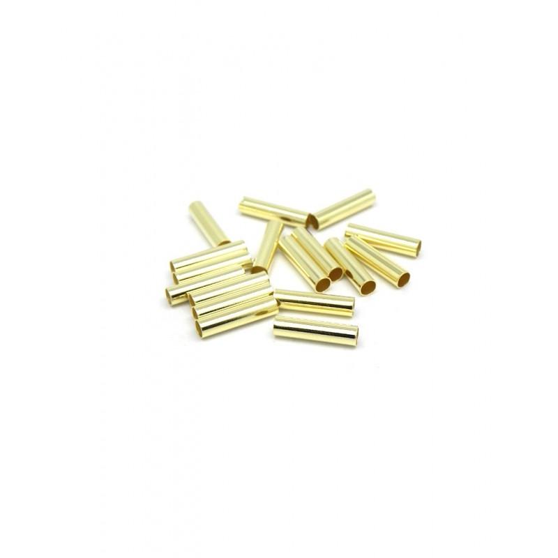 Pack 20 separadores en forma de cilindro baño de oro