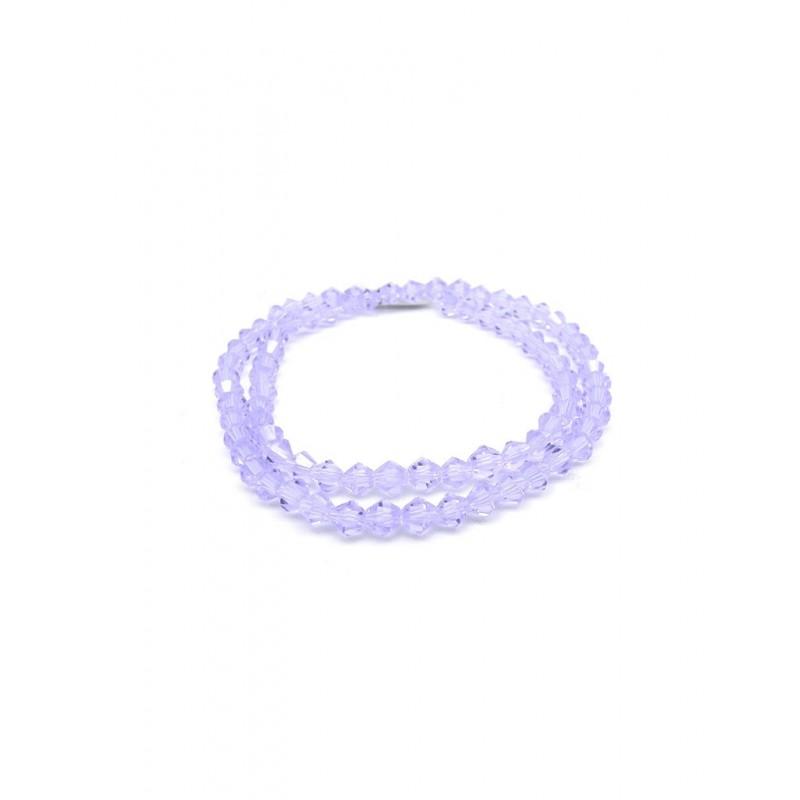 Cristales facetados lila en forma de rombo 4mm