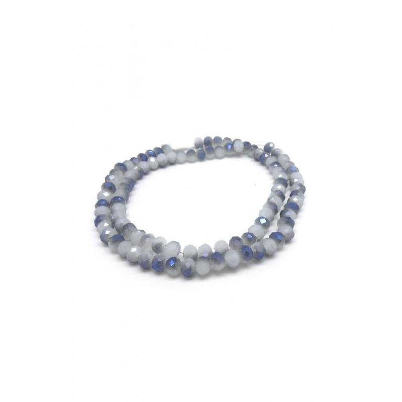 Cristales facetados gris tornasolado 3mm