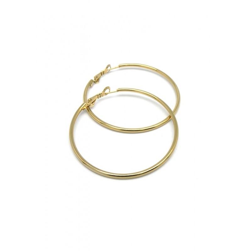 Argolla acero dorado 50mm