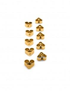 Pack 10 tornillos acero dorado